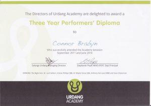 Connor's Urdang Certificate